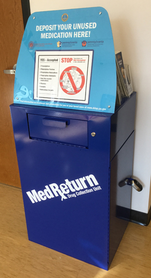 Pennsylvania Medication Take-Back Program Container