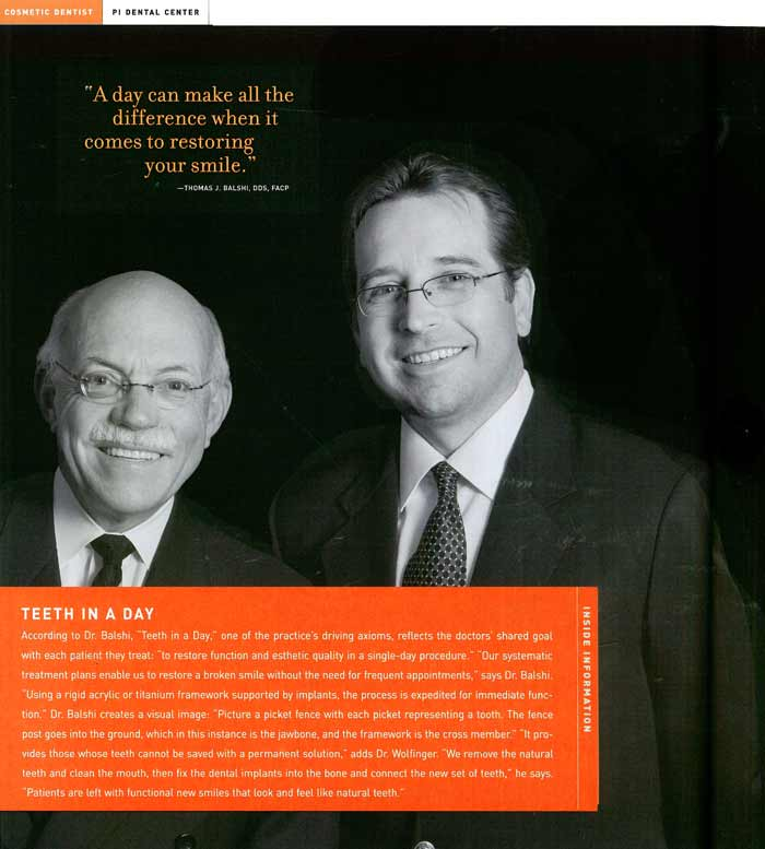 Drs. Thomas Balshi and Glenn Wolfinger