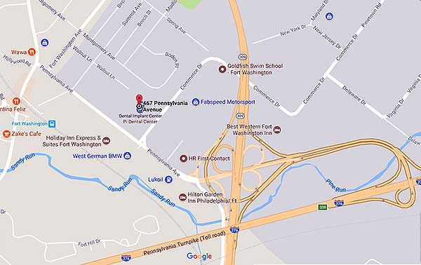 Map and Directions to Pi Dental